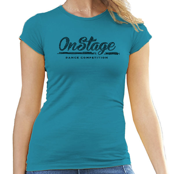 OnStage Rhinestone Logo T-Shirt - Ladies